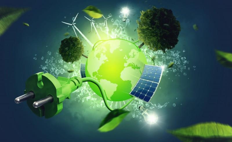 symbole d'une planète verte et écologique